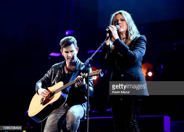 Peter Thorn and Rita Wilson perform onstage during I Am The Highway A Tribute To Chris Cornell at The Forum on January 16 2019 in Inglewood California