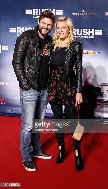 Peter Thorwart and Nele Kiper attend the German premiere of the film 'Rush' at Cinedom on September 28, 2013 in Cologne, Germany.