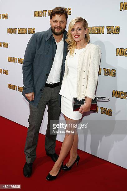 Peter Thorwarth and Nele Kiper attend the premiere of the film 'Nicht mein Tag' at CineStar on January 13, 2014 in Berlin, Germany.