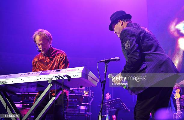 Peter Tork and Micky Dolenz of The Monkees performs on stage at Royal Albert Hall on May 19 2011 in London United Kingdom