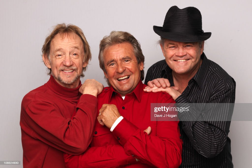 Peter Tork Davey Jones And Micky Dolenz Of The Monkees Pose During Portrait  Session To Announce