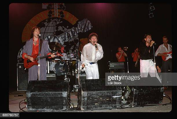 Peter Tork Micky Dolenz and Davy Jones of the Monkees perform in a concert