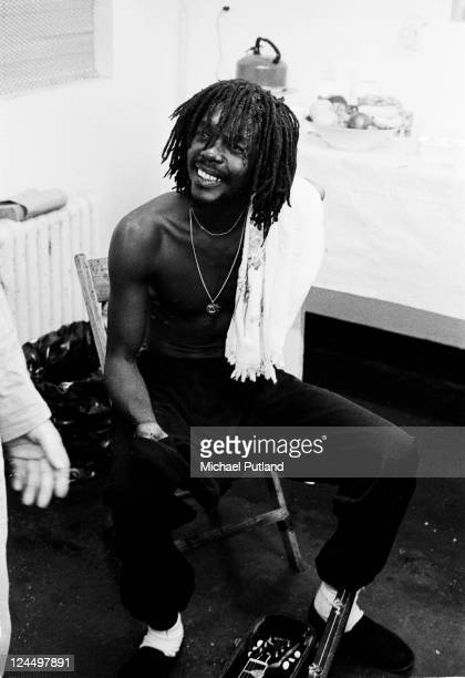 Peter Tosh backstage supporting the Rolling Stones Palladium New York 19th June 1978