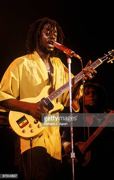 Peter Tosh performs live on stage at the Palladium in New York as support for The Rolling Stones on June 19 1978
