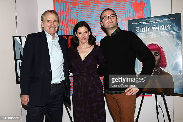 Peter Travers Ally Sheedy and Zach Clark attend New York Film Critics Series 'Little Sisters' QA at The Core Club on October 5 2016 in New York City