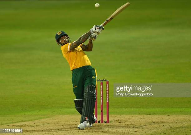 Peter Trego of Notts bats during the Vitality T20 Blast Final between Surrey and Notts Outlaws at Edgbaston on October 04 2020 in Birmingham England