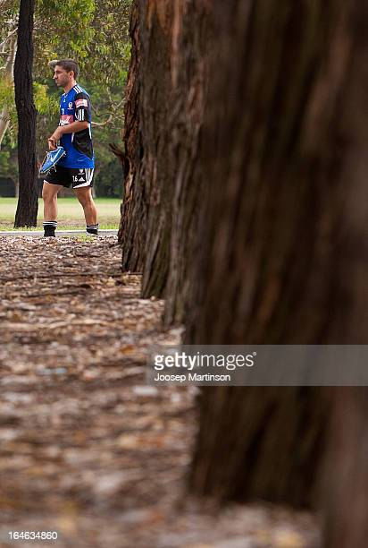 Peter Triantis leaves Sydney FC training session at Macquarie Uni on March 26 2013 in Sydney Australia