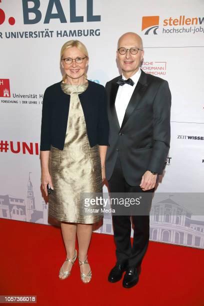 Peter Tschentscher and Eva-Maria Tschentscher during the Uni Ball Hamburg on November 3, 2018 in Hamburg, Germany.