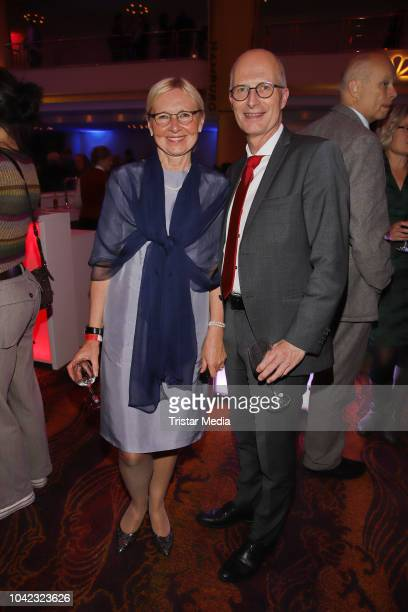 Peter Tschentscher and his wife Eva Maria attend the opening of the Hamburg Film Festival 2018 on September 27, 2018 in Hamburg, Germany.