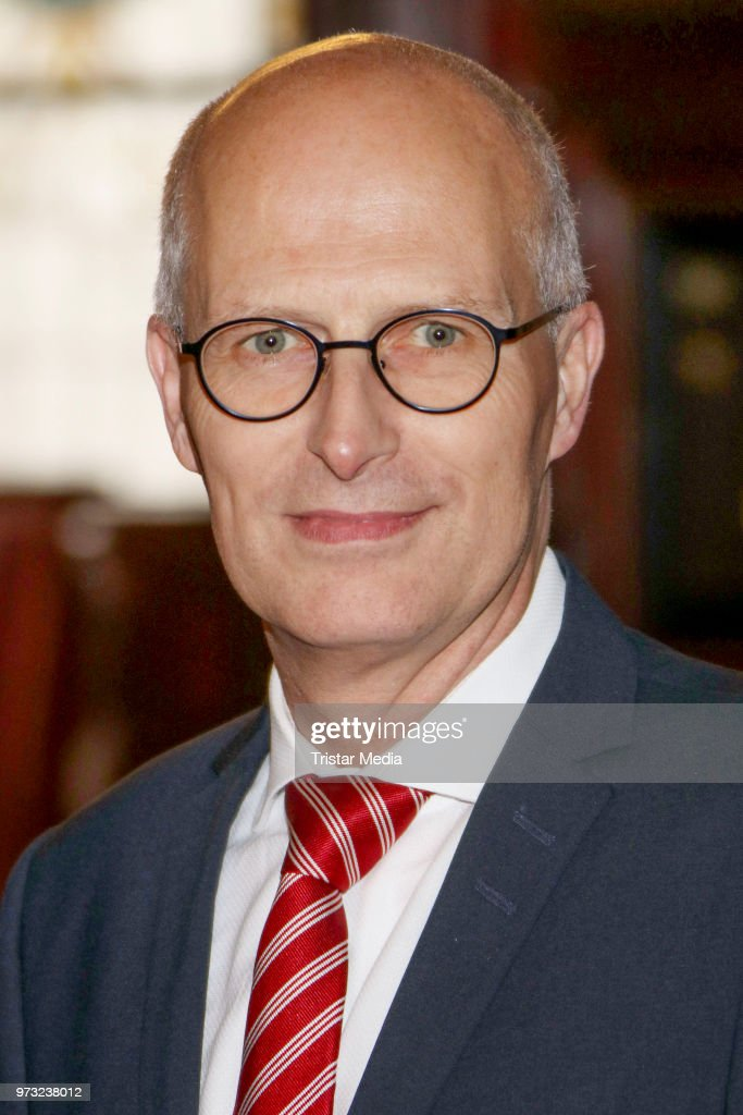 Peter Tschentscher during the visit of the English ambassador in the town hall on June 13, 2018 in Hamburg, Germany.