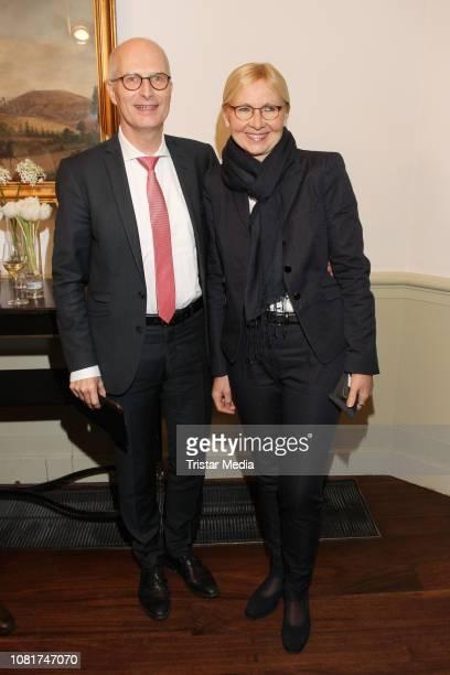 Peter Tschentscher, Eva Maria Tschentscher during the Blankeneser New Year Reception at Hotel Suellberg on January 10, 2019 in Hamburg, Germany.