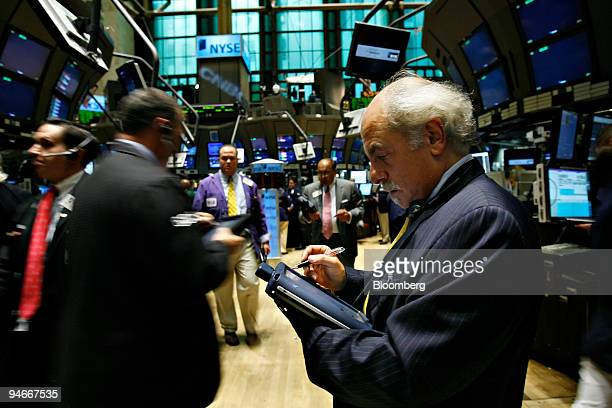 Peter Tuchman works on the floor of the New York Stock Exchange in New York Wednesday Aug 1 2007