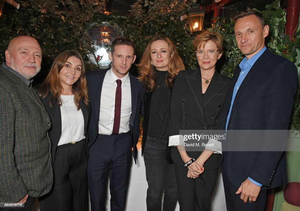 Peter Turner, Vassi Chamberlain, Features Director at PORTER magazine, Jamie Bell, Lucy Yeomans, Editor-in-Chief of PORTER magazine, Annette Bening and Zygi Kamasa, CEO of Lionsgate UK, attend the PORTER & Lionsgate UK after party for 'Film Stars Don't Die In Liverpool' at Mark's Club on October 12, 2017 in London, England.
