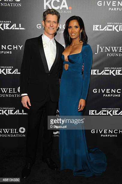 Peter Twyman CEO of Keep a Child Alive and Padma Lakshmi attend Keep A Child Alive's 11th annual Black Ball at Hammerstein Ballroom on October 30...