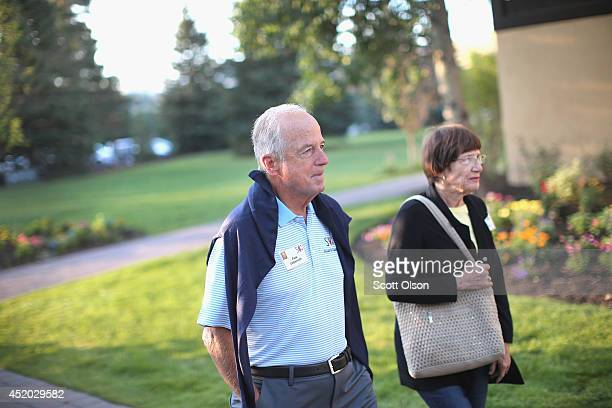 Peter Ueberroth chairman of Contrarian Group Inc attends the Allen Company Sun Valley Conference on July 11 2014 in Sun Valley Idaho Many of the...