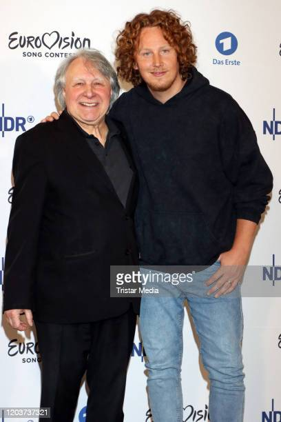 Peter Urban and Michael Schulte attend the Unser Lied fuer Rotterdam photo call at ASTOR Film Lounge HafenCity on February 27 2020 in Hamburg Germany