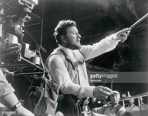 Peter Ustinov directs a scene in which he is about to act in a film he wrote and produced called Romanoff and Juliet, a romantic comedy about a...