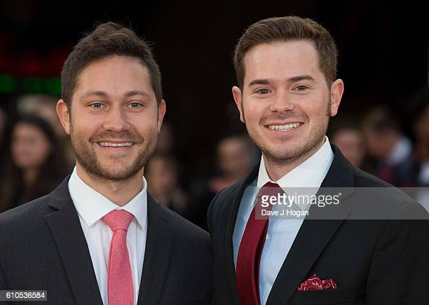 Peter Vass and Sam Milman attend the Laid In America World Premiere at Cineworld 02 Arena on September 26 2016 in London England