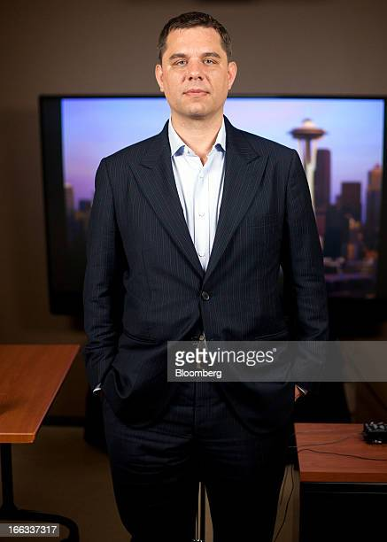 Peter Vessenes executive director of Bitcoin Foundation stands for a photograph after an interview in Seattle Washington US on Thursday April 11 2013...