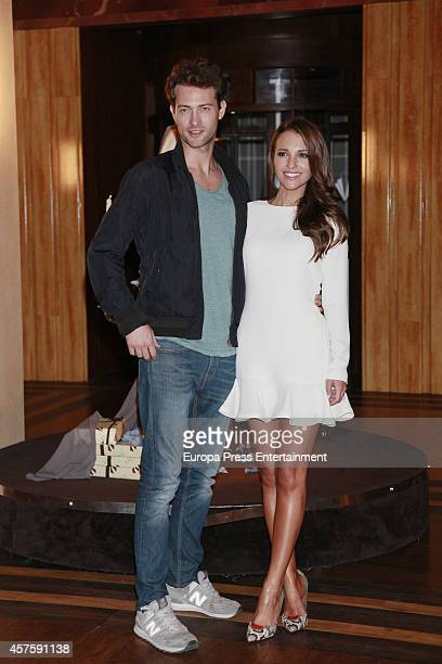 Peter Vives and Paula Echevarria attend 'Velvet' 2nd season presentation on October 20 2014 in Madrid Spain