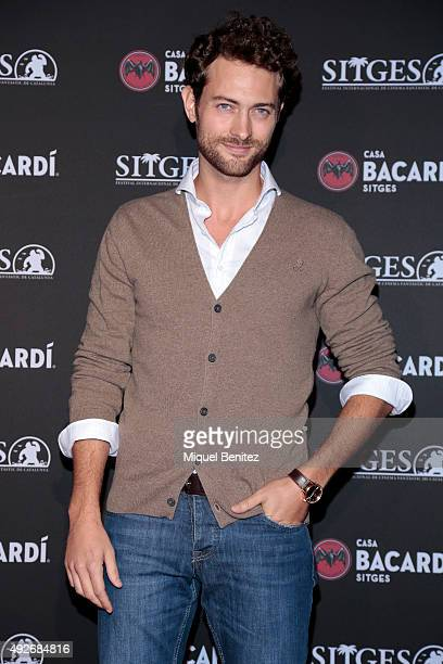 Peter Vives attends a photocall for the 'Bacardi Sitges' Awards 2015 held at the Casa Bacardi during the '48th Sitges Film Festival 2015' on October...
