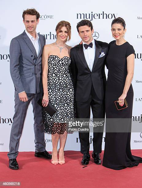 Peter Vives Manuela Velasco Dani Martin and Juana Acosta attend 'Mujer Hoy' awards gala at Palace Hotel on December 16 2014 in Madrid Spain