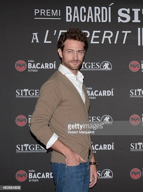 Peter Vives poses during a photocall for the 'Bacardi Sitges Award' at the Casa Barcardi on October 14 2015 in Sitges Spain