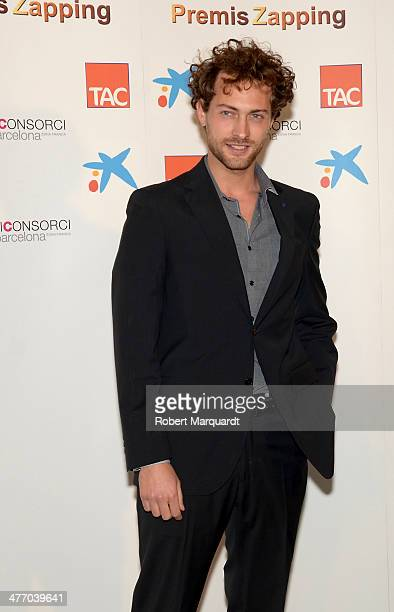 Peter Vives poses during a photocall for the 'Zapping Awards 2014' at the Palau de Congressos de Catalunya on March 6 2014 in Barcelona Spain