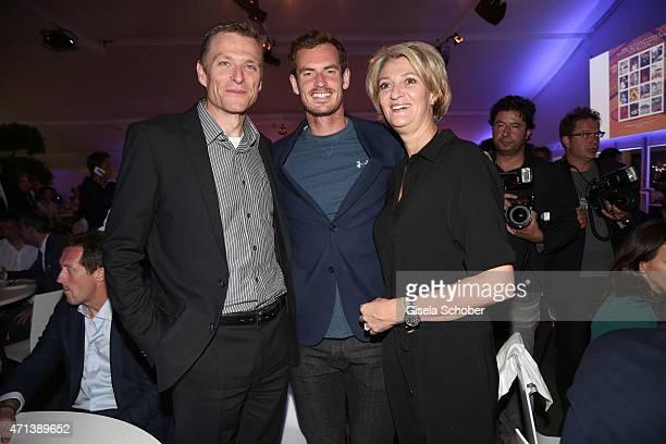 Peter von Biensbergen Director BMW Germany and his wife Belinda Andy Murray Wimbledon Winner 2014 during the '100 Jahre Internationale...