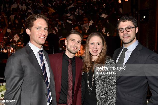 Peter W Kunhardt Jr Alex Soros Chelsea Clinton and Marc Mezvinsky attend the Gordon Parks Foundation Awards Dinner Auction at Cipriani 42nd Street on...