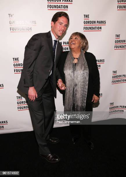 Peter W Kunhardt Jr and Mavis Staples attend the 2018 Gordon Parks Foundation Gala at Cipriani 42nd Street on May 22 2018 in New York City