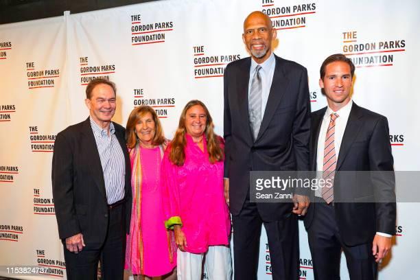 Peter W. Kunhardt, Nina Freedman, a guest, Kareem Abdul-Jabbar and Peter Kunhardt Jr. Attend The Gordon Parks Foundation 2019 Annual Awards Dinner...