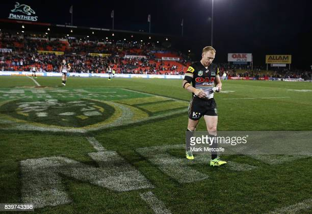 Peter Wallace of the Panthers looks dejected after defeat during the round 25 NRL match between the Penrith Panthers and the St George Illawarra...