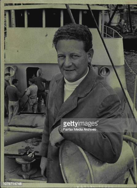 "Peter Warner aboard his new fishing boat ""Ata"".Coast, aboard the Tongan fishing trawler Ata.The owner of the Ata. Mr. Peter Warner, told operators of..."