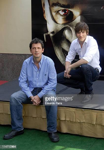 Peter Webber and Gaspard Ulliel during Hannibal Rising Madrid Photocall at Villamagna Hotel in Madrid Spain