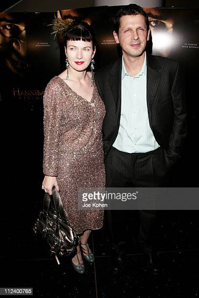 """Peter Webber and wife Pip during """"Hannibal Rising"""" New York City Premiere - Red Carpet at AMC Loews Lincoln Square in New York City, New York, United..."""