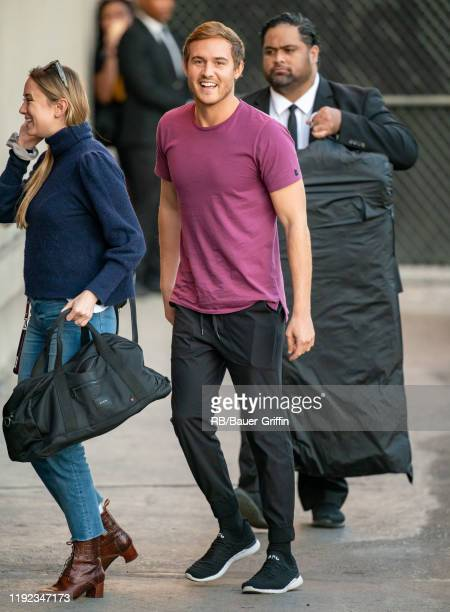 Peter Weber is seen at 'Jimmy Kimmel Live' on January 06 2020 in Los Angeles California