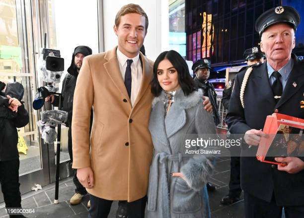 Peter Weber of The Bachelor and Lucy Hall attend Dick Clark's New Year's Rockin' Eve With Ryan Seacrest 2020 on December 31 2019 in New York City