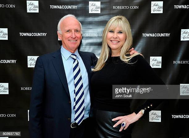 Peter Webster and Irena Medavoy attend Town Country's Stellene Volandes and Irena Medavoy Celebrate The Golden Globes with a preview of Roberto...