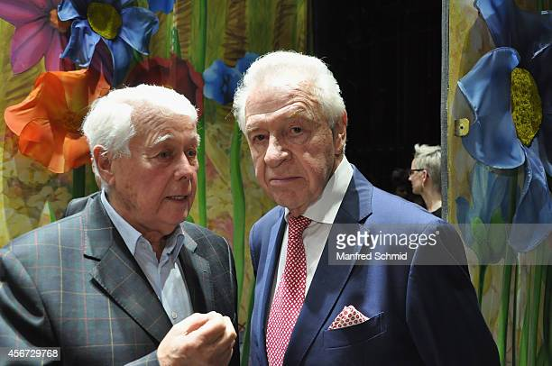 Peter Weck and Harald Serafin attend the Mary Poppins musical premiere at Ronacher Theater on October 1 2014 in Vienna Austria