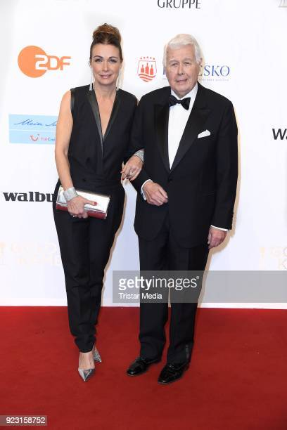 Peter Weck and his daughter Barbara Weck attend the Goldene Kamera on February 22 2018 in Hamburg Germany