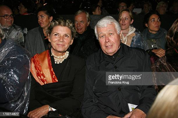 Peter Weck And Wife Ingrid In The Arrival To Premiere In Worms Nibelungen