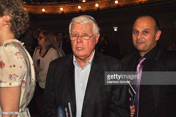 Peter Weck attends the Mary Poppins musical premiere at Ronacher Theater on October 1 2014 in Vienna Austria