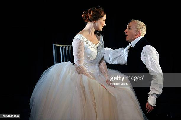 Peter Wedd as Lohengrin and Emma Bell as Elsa von Telramund in Welsh National Opera's production of Richard Wagner's Lohengrin at the Millennium...