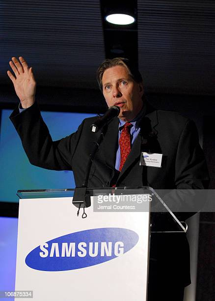 Peter Weedfald Senior Vice President of Sales and Marketing Consumer Electronics Division Samsung