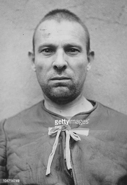 Peter Weingartner , a guard at the Bergen-Belsen concentration camp, Germany, circa 1945. Charged with war crimes and crimes against humanity,...
