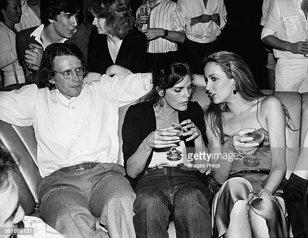 Peter Weller Ali McGraw and Jerry Hall at Studio 54 circa 1979 in New York City