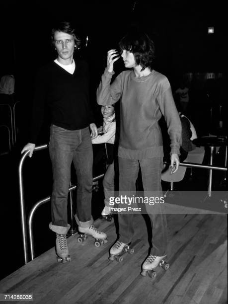 Peter Weller and Ali McGraw at the Roxy Roller Disco circa 1980 in New York City