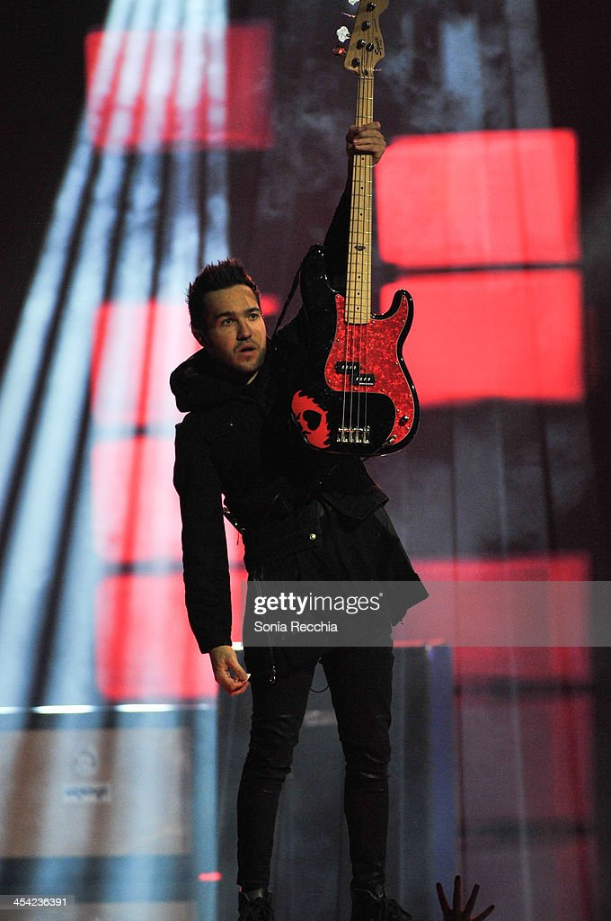 Peter Wentz of Fall Out Boy performs at Much Presents: The Big Jingle on December 7, 2013 in Toronto, Canada.
