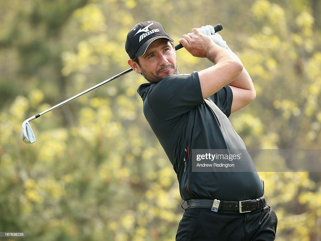 Peter Whiteford of Scotland hits his tee-shot on the sixth hole during the third round of the Ballantine's Championship at Blackstone Golf Club on April 27, 2013 in Icheon, South Korea.